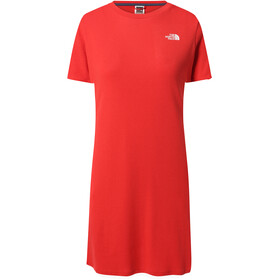 The North Face Simple Dome Tee Dress Women, horizon red